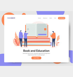 book and education concept vector image