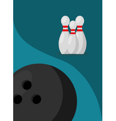 bowling pins ball game sport image vector image