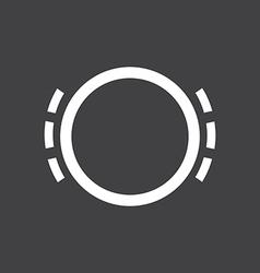 Brake pad wear icon vector image