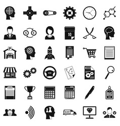 business choice icons set simple style vector image