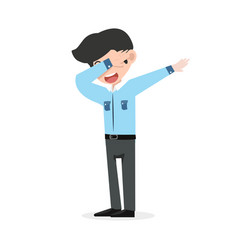 Businessman showing dab movement vector