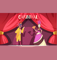 carnival cartoon background vector image