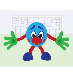cartoon football goalkeeper vector image