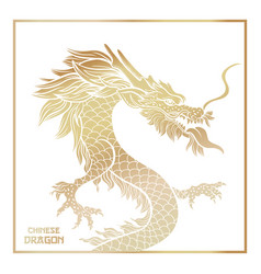 Chinese mythic dragon postcard template vector