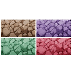 Colorful brick textures vector