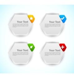 Design elements Hexagons vector image