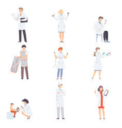Doctor characters collection professional medical vector