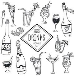 Doodle drinks vector