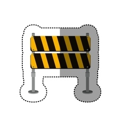 Dotted sticker striped pair street traffic barrier vector