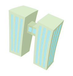 Double building icon cartoon style vector