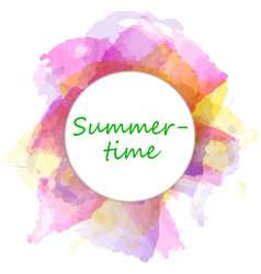 Drawn summer bright abstract background vector