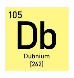 dubnium chemical symbol vector image