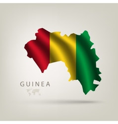 flag guinea as country vector image