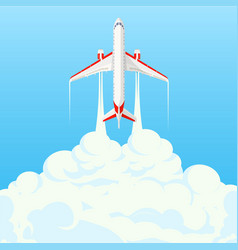 flat banner on theme travel airplane vector image