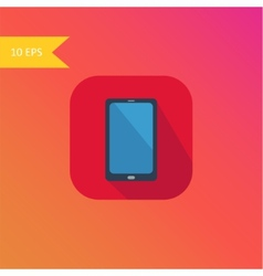 flat design smart phone icon element vector image