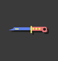 Flat icon design collection beyond army knife in vector