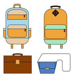 flat line design concept of carry vector image