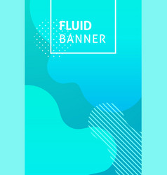 fluid blue banner text vector image