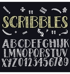 Funny scribbles alphabet vector