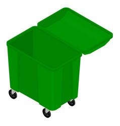 Garbage trash container vector