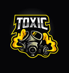 Gas mask logo for toxic team esport vector