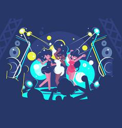 Girls dancing in nightclub vector