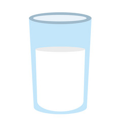 Glass with milk icon vector