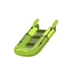 Green Inflatable Raft Type Of Boat Icon vector image