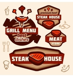 grill logos vector image