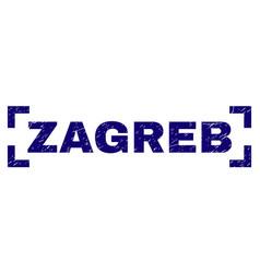 Grunge textured zagreb stamp seal between corners vector