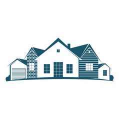 housing symbol for business vector image