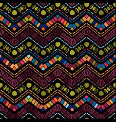 ikat geometric zigzag pattern tribal ethnic theme vector image