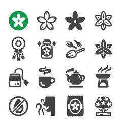 jasmine icon set vector image