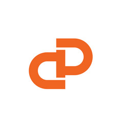 Letter ad simple geometric line logo vector