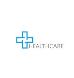 logo cross health vector image