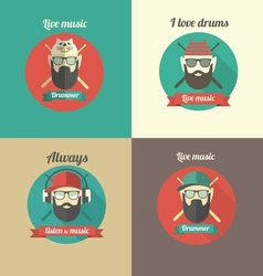 love drums vector image