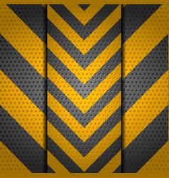 Metallic perforated danger sign background vector