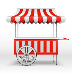 Mobile market stall with wheels blank farmer vector
