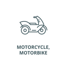 motorcyclemotorbike line icon linear vector image