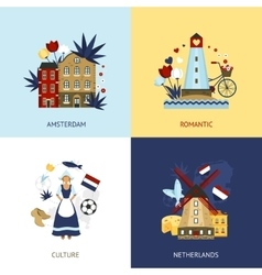 Netherlands design concept vector