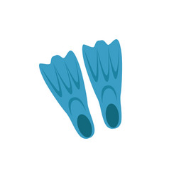 Plastic flippers for swimming isolated icon vector