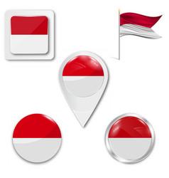 Poland flag travel vector