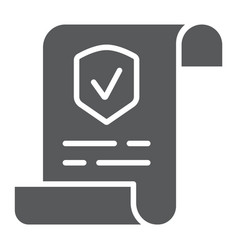 Policy glyph icon document and contract vector