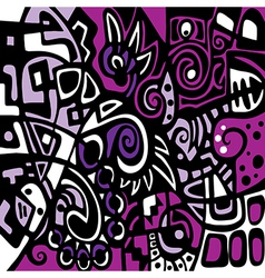 Purple stylized abstraction vector