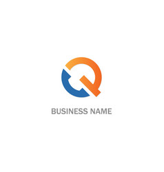 q initial business logo vector image