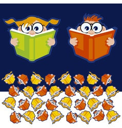 Reading books vector