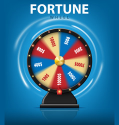 realistic 3d spinning fortune wheel isolated on vector image