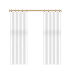 realistic detailed 3d transparent window curtain vector image
