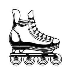 roller skates design element for logo label vector image