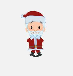 Santa claus shrugged in fear vector